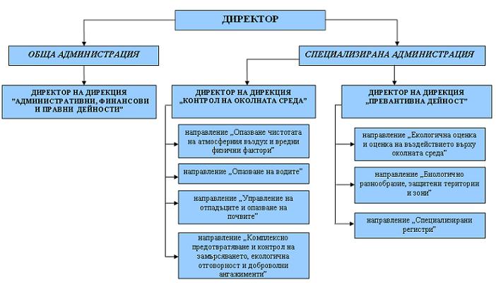 Структура на РИОСВ - Монтана